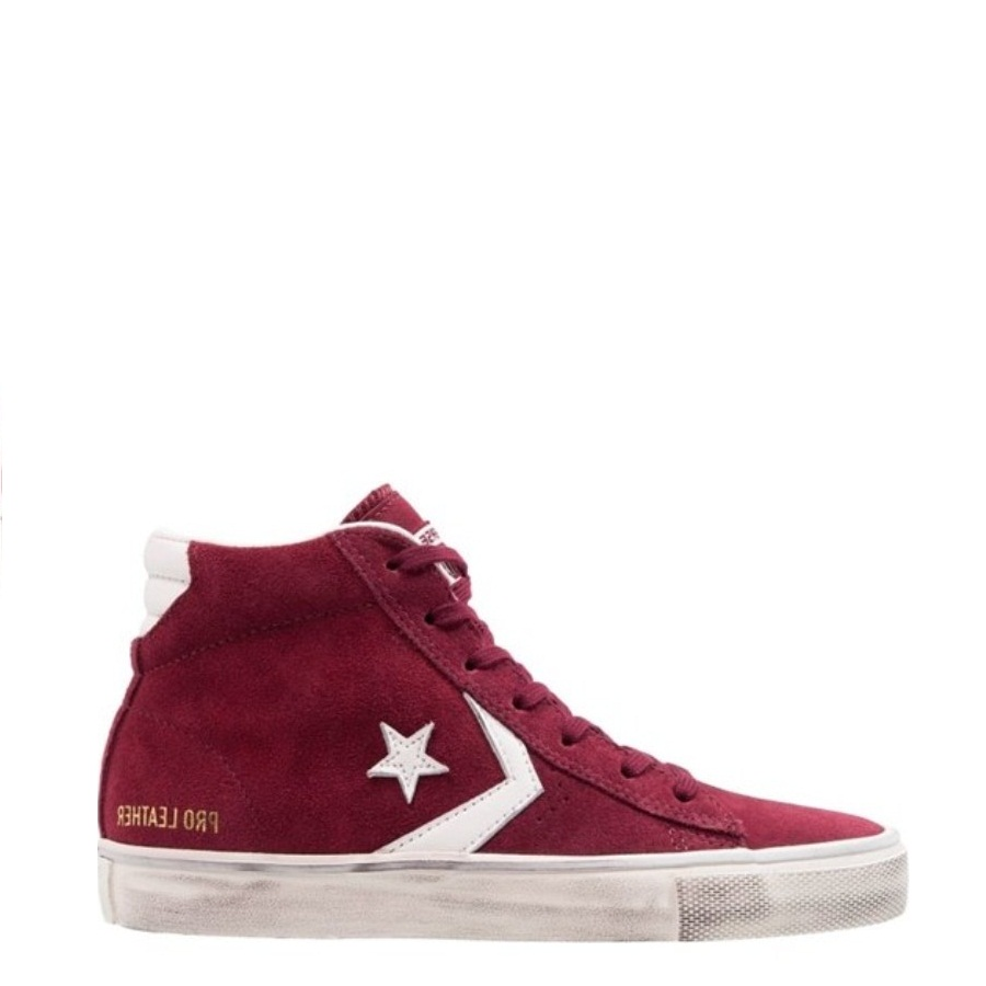 Sneakers Converse Pro Leather Vulc Mid Suede Rosso Uomo