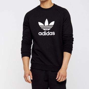 Adidas Felpa Trefoil Worm-up Crew