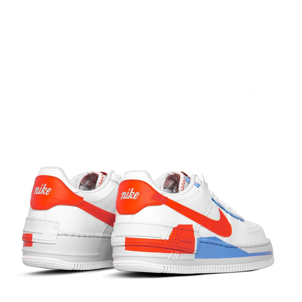 air force 1 shadow bianche e arancioni