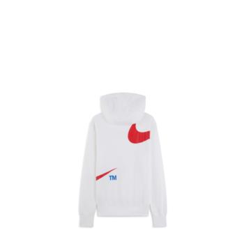 Nike Swoosh Felpa Pullover con Cappuccio Bianca Uomo